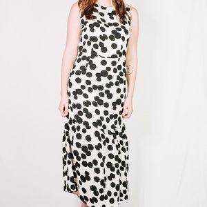 Who What Wear Polka Dot Maxi Dress